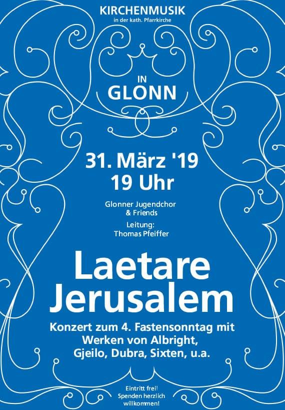 Lätare Jerusalem, Konzert zum 4. Fastensonntag